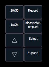 Buttons Direkttasten klassisch