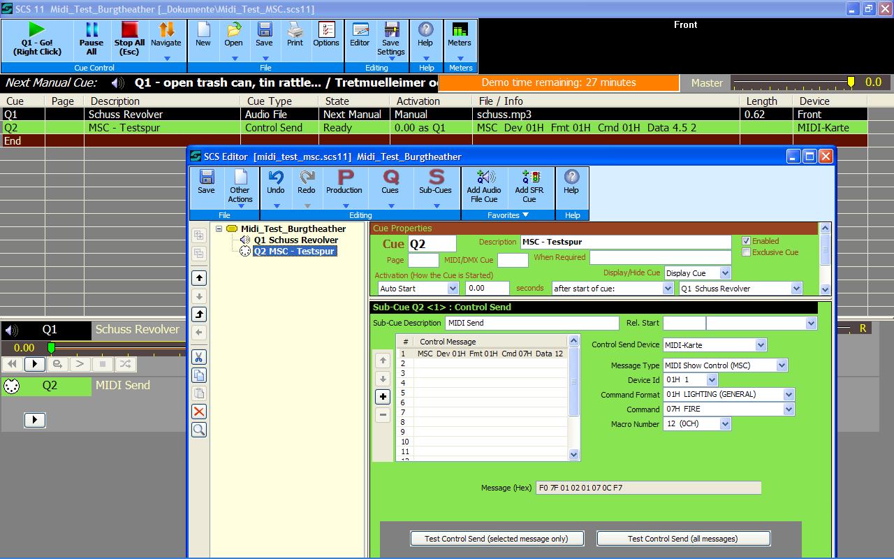 MIDI Show Control - Ton steuert Licht